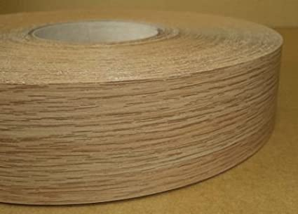 Pre Glued Iron on Melamine Natural Oak Edging Tape 48mm Wide x 5 Metres