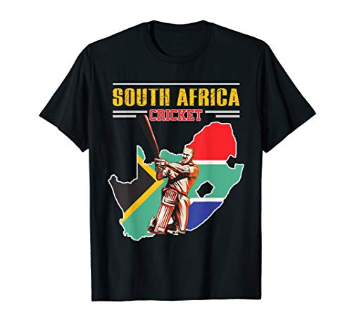 South African Batsman Shirt - South-Africa Cricket Cup Fan T-Shirt (Best South African Cricketers)