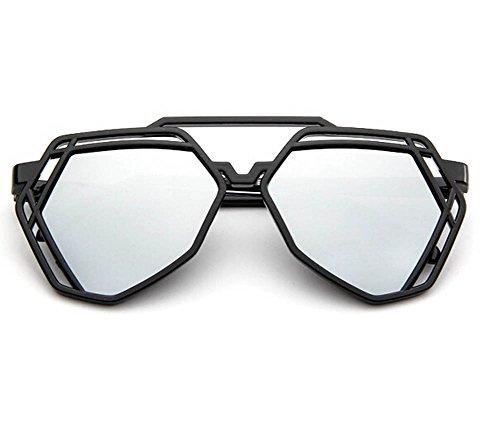 colorido Blanco talla DaoRier Gafas Gemstone Shape única de sol xq4X1TwBR