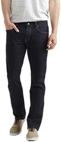 Aeropostale Mens Slim Straight Dark Wash Stretch Jeans
