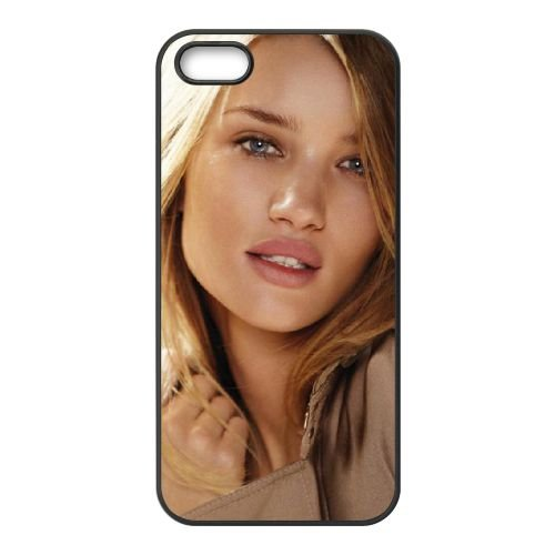 Blonde Bombshell Rosie Whiteley Huntington Face Cute coque iPhone 4 4S cellulaire cas coque de téléphone cas téléphone cellulaire noir couvercle EEEXLKNBC23648