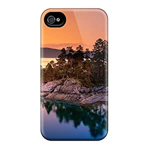 New RGfZOBn668zfvyy Calm Lake Tpu Cover Case For Iphone 4/4s