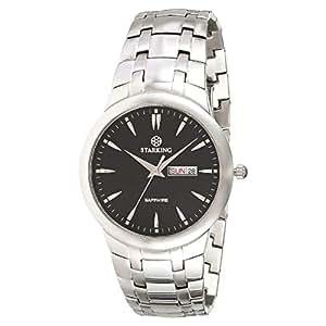 Starking Men's Black Dial Stainless Steel Band Watch - BM0871SS12