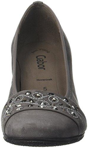 Gabor Shoes Gabor Basic, Zapatos de Tacón para Mujer Gris (Dark-Grey 19)