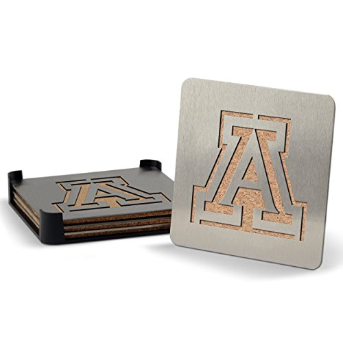 NCAA Arizona Wildcats Boaster Stainless Steel Coaster Set of 4 (Arizona Set Wildcats)