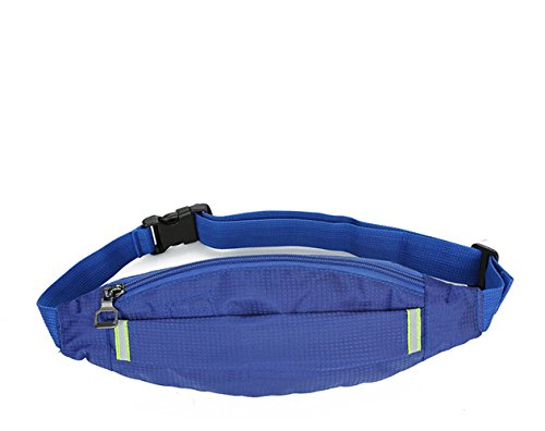 Baobeir Running Belt Multi-Functional Waist Pack,iPhone Xs 8 8 Plus iPhone Holder for Runners, Sports Bag for Running, Hiking, Gym, Waterproof &Breathable&Reflective Fitness Accessories (Blue)