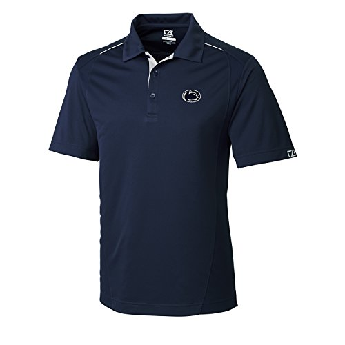Cutter & Buck NCAA Men's CB Dry Tec FOSS Hybrid Polo,Penn State Nittany Lions,Navy Blue,Large ()