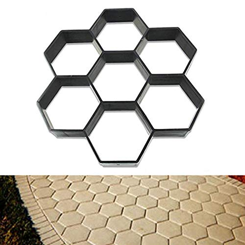 11.8x11.8〃 HomDSim Path Maker Mold,Reusable Concrete Cement Stepping Stone Pattern Design Paver Paving Path Maker Model,DIY Personalized Construction Boards for Garden Yard Patio Lawn Driveway (Stone Patio Designs Paving)