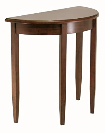 Elegant Winsome Wood Concord Half Moon Table