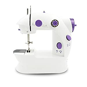 Mini Electric Portable Sewing Machine – IdentikitGift Household Double Thread Double Speed Sewing Machine with Foot Pedal, Light & Cutter from IdentikitGift