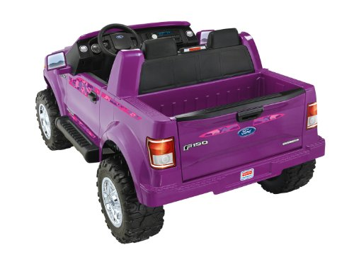 Power wheels fisher price ford f 150 purple camo kids cars for Fisher price motorized cars