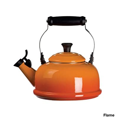 Le Creuset Classic 1.75-qt. Enamel on Steel Whistling Teakettle - White