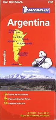 Mapa National Argentina (Mapas National Michelin): Amazon.es: VV ...