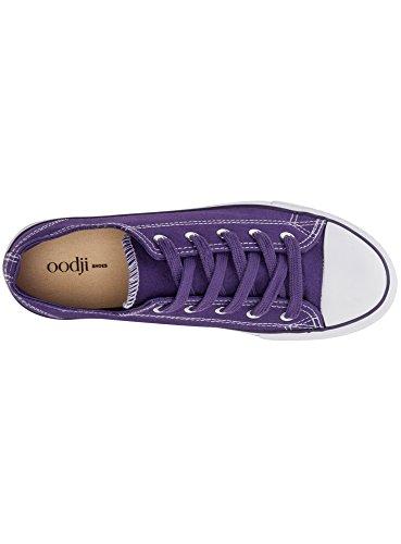 con Viola in Ultra di Punta Sneakers Gomma Donna Tela 8310b oodji SqwXp6
