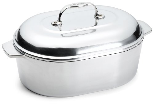 Chef's Design 7-1/2-Quart Covered Oval Roaster with Nonstick Interior