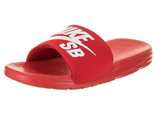 Pictures of NIKE Men's Benassi Solarsoft Sandals SB University Red/White 1
