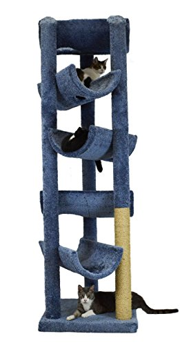 - Molly and Friends MF-85-bl/b Deluxe Scratching Post Furniture, Blue/Beige