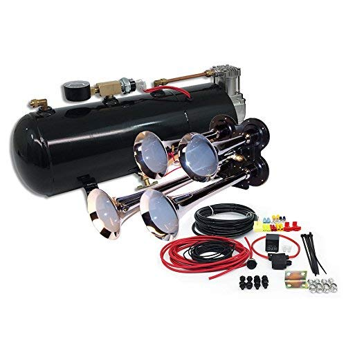 MPC B1 (0419) 4 Trumpet Train Air Horn Kit, Fits Almost Any Vehicle, Truck, Car, Jeep or SUV (Renewed)