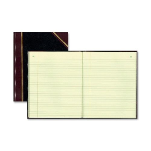 (Wholesale CASE of 10 - Rediform Black Texhide Record Books-Record Book W/Margin, 150 Pages, 10-3/8