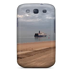 Bernardrmop Premium Protective Hard Case For Galaxy S3- Nice Design - Ferry At Sea