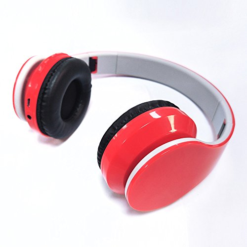 Nokia Fm Radio Stereo Headset (V4.1 Bluetooth Wireless Foldable Hi-fi Stereo Headphone with Microphone and Volume Control for Sports and Running (Red))