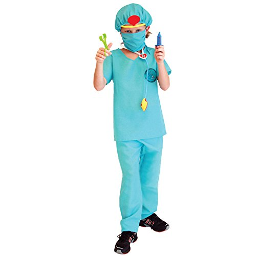 TopTie Surgeon Dress Up Costume Doctor Costumes For Kid, Costume Ideas GREEN-XL (Costume Ideas For Kids)