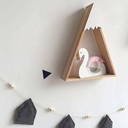 ZAMTAC INS Style Nordic Wooden Saving Tank Money Box Swan Decoration Children's Room Decor Photography Prop Toys Gifts Coin Bank Cute