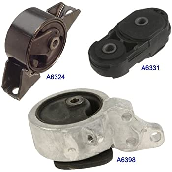 95-99 Nissan Sentra 1.6L Engine Motor Mount Kit w/ Manual Trans 3PCS. A6331 A6398 A6324. 95 96 97 98 99.