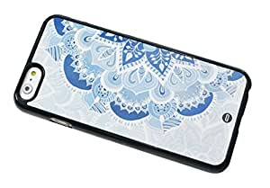 1888998658699 [Global Case] Marrocan Mandala Patrón de flores Azul Verde Arte Árabe Azteca Étnico Tribal Maya Flores Mosaico Oriental Oriente (NEGRO FUNDA) Carcasa Protectora Cover Case Absorción Dura Suave para Samsung Galaxy S2