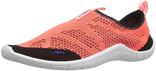Speedo Women's Surf Knit Athletic Water Shoe, Hot Coral, 8 C/D (Coral Water)