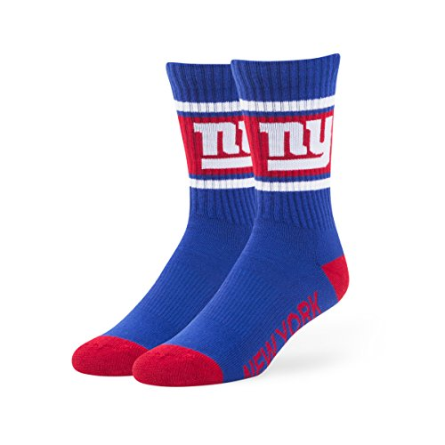 NFL New York Giants Men's '47 Duster Casual Dress Crew Socks, Royal, Large, 1-Pack