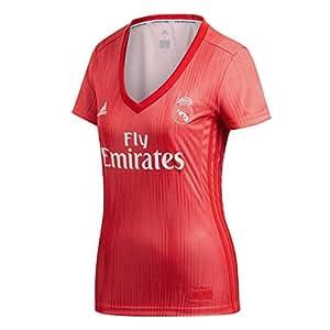 adidas Real 3 JSY W Camiseta, Mujer, (Correa/rojviv), XL