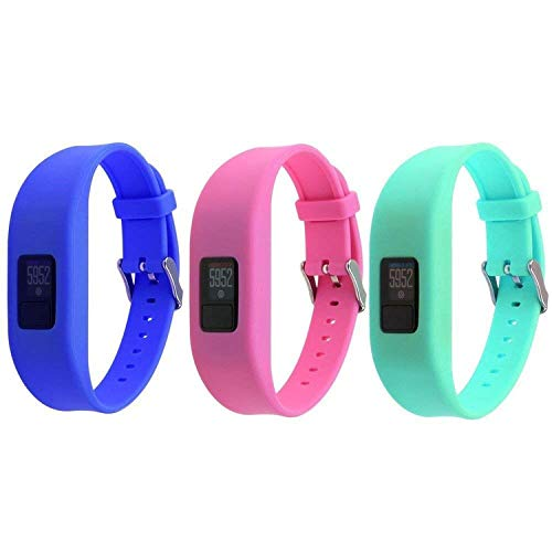 HWHMH Garmin Vivofit 3 Buckle Bracelet - Adjustable Wristband and Wristwatch Style - Silicone Replacement Secure Band for Garmin Vivofit 6…