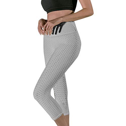 JESPER 2019 Hot Embossing Leggings for Women Solid High Waist Fitness Hips Cropped Yoga Pants Grey