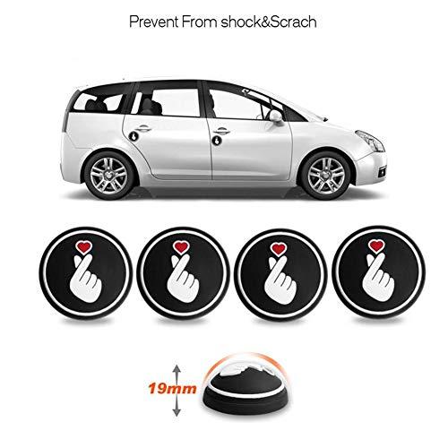 leveraYo 3D car Door Anti-Collision Strip Protection Strip Side Protection Bumper Sticker Protector Black Chrome