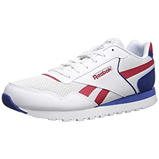Reebok mens Reebok Classic Harman Run fashion sneakers, White/Excellent Red/Dark Royal, 3 US