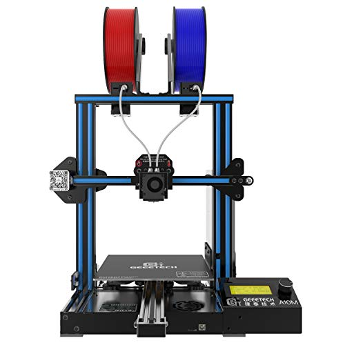 Geeetech A10M 3D Printer with Mix-Color Printing, Adjustable Dual Extruder Design, Filament Detector and Break-resuming…