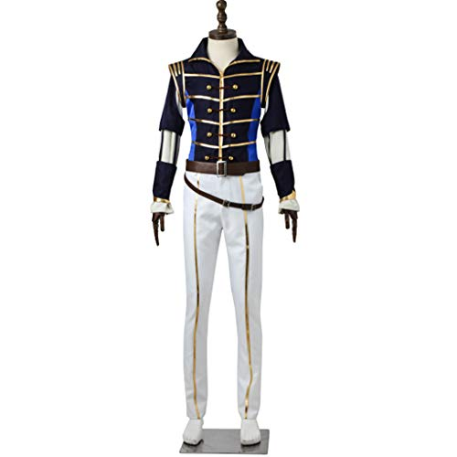 DUNHAO COS Anime Men's Game A3! Spring Romeo and Juliet Chigasaki Itaru Halloween Uniform Suit Cosplay Costume XXL -