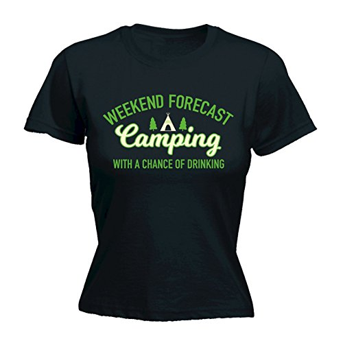 123t-Womens-Weekend-Forecast-Camping-Chance-Of-Drinking-FITTED-T-SHIRT-Funny-Christmas-Casual-Birthday-Tee