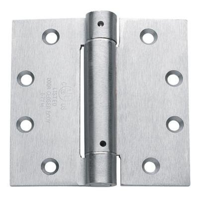 S. Parker Self Closing Slim Spring Hinges 4-1/2'' X 4-1/2'' For Medium And Heavyweight Metal Or Wood Doors In Satin Chrome Finish (Set Of 3 Hinges) by S. Parker Hardware