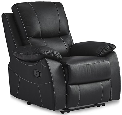 Homelegance Greeley Reclining Chair Top Grain Leather Match, - Piece 3 Systems Cushion Body