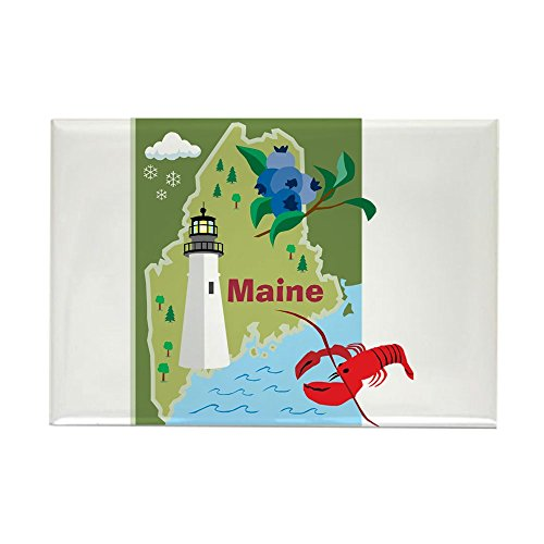 CafePress Maine Map Rectangle Magnet, 2