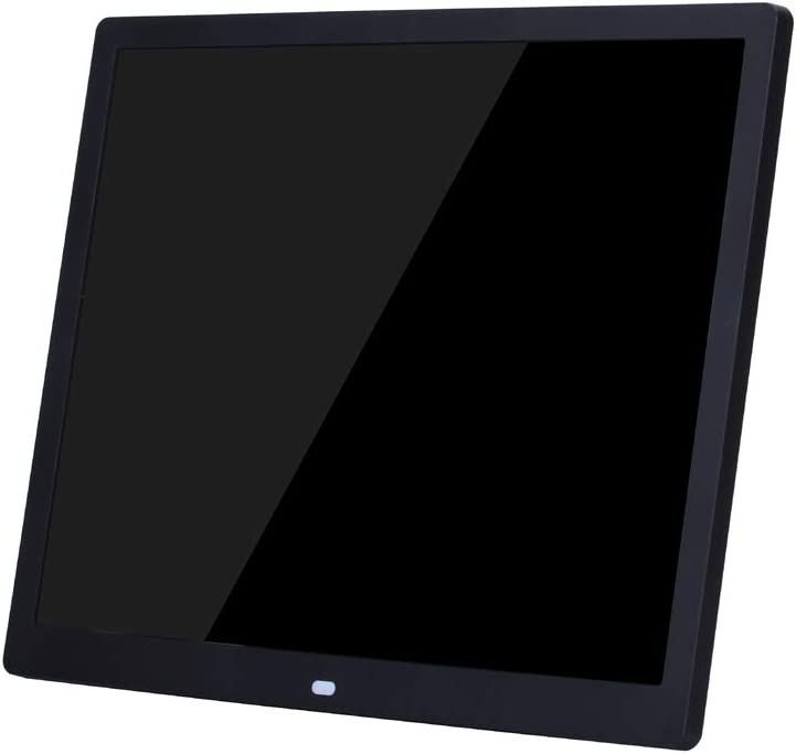 15-inch Digital Photo Frame Electronic Photo Frame Ultra-narrow Side Support 1080P Wall-mounted Advertising Machine Durable Color : Black