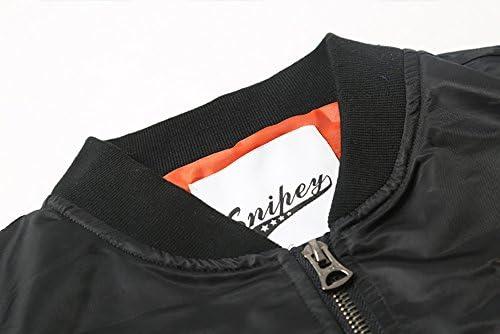 秋冬 大人 男女兼用 MA-1 ブルゾン ジャケット アウター ワッペン 刺繍 ミリタリー カジュアル シンプル クール デイリー ストリート スタイル ゆったり ブラック カーキ サイズ M〜XL SSK-0329