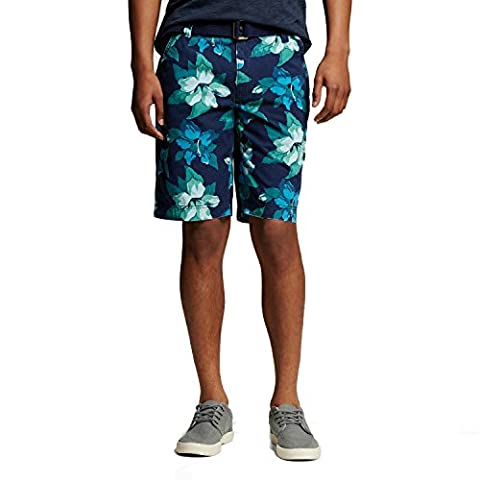 Men's Floral Flat Front Shorts Blue Floral - Mossimo Supply Co. (40) (Mossimo Supply Co For Men)