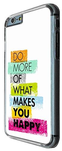820 - Do More of what make you happy Design iphone 6 PLUS / iphone 6 PLUS S 5.5'' Coque Fashion Trend Case Coque Protection Cover plastique et métal