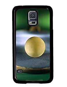 Beautiful Ping Pong Paddle With Ball DIY Hard Shell Black Samsung Galaxy S5 I9600 Case Perfect By Custom Service