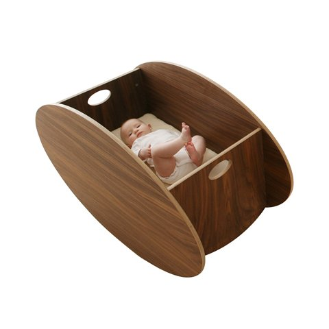 Babyhome so-ro walnut cradle 300400