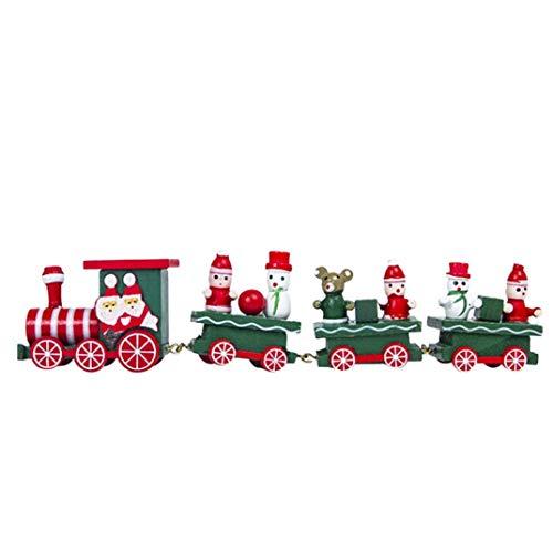 Gallity Christmas Decorations Christmas Woods Small Train Children Kindergarten Festive Christmas Gift Christmas Desk Decor -