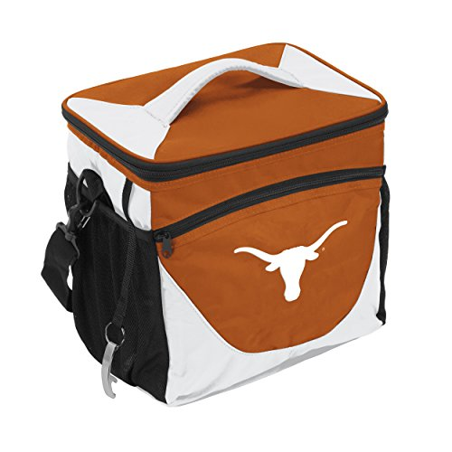 NCAA Texas Longhorns 24-Can Cooler with Bottle Opener and Front Dry Storage Pocket